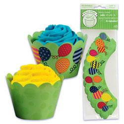 Cupcake Wrap- Balloons