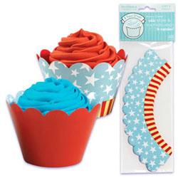 Cupcake Wrap- Patriotic