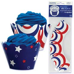 Cupcake Wrap- 4th of July