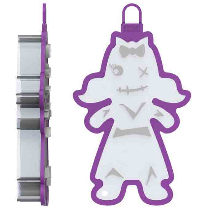Zombie Girl Cookie Cutter Stamp