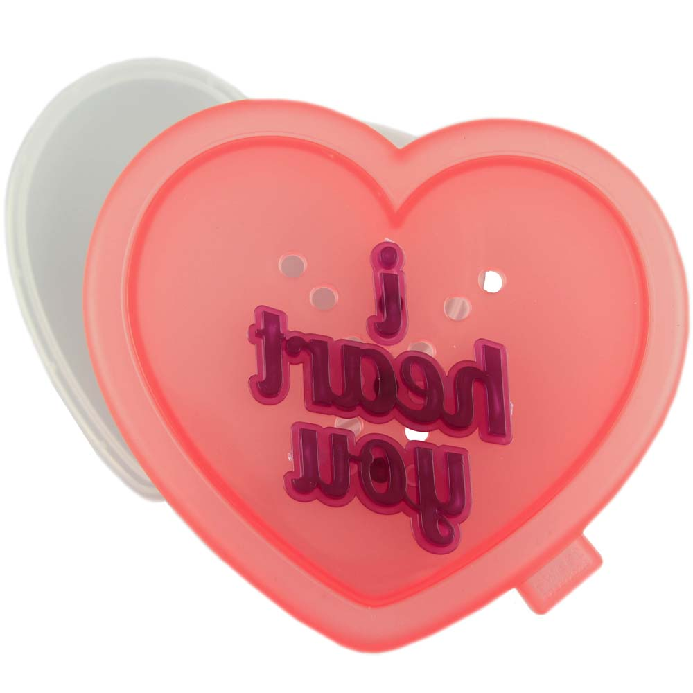 Message Heart Cookie Cutter and Stamp Set