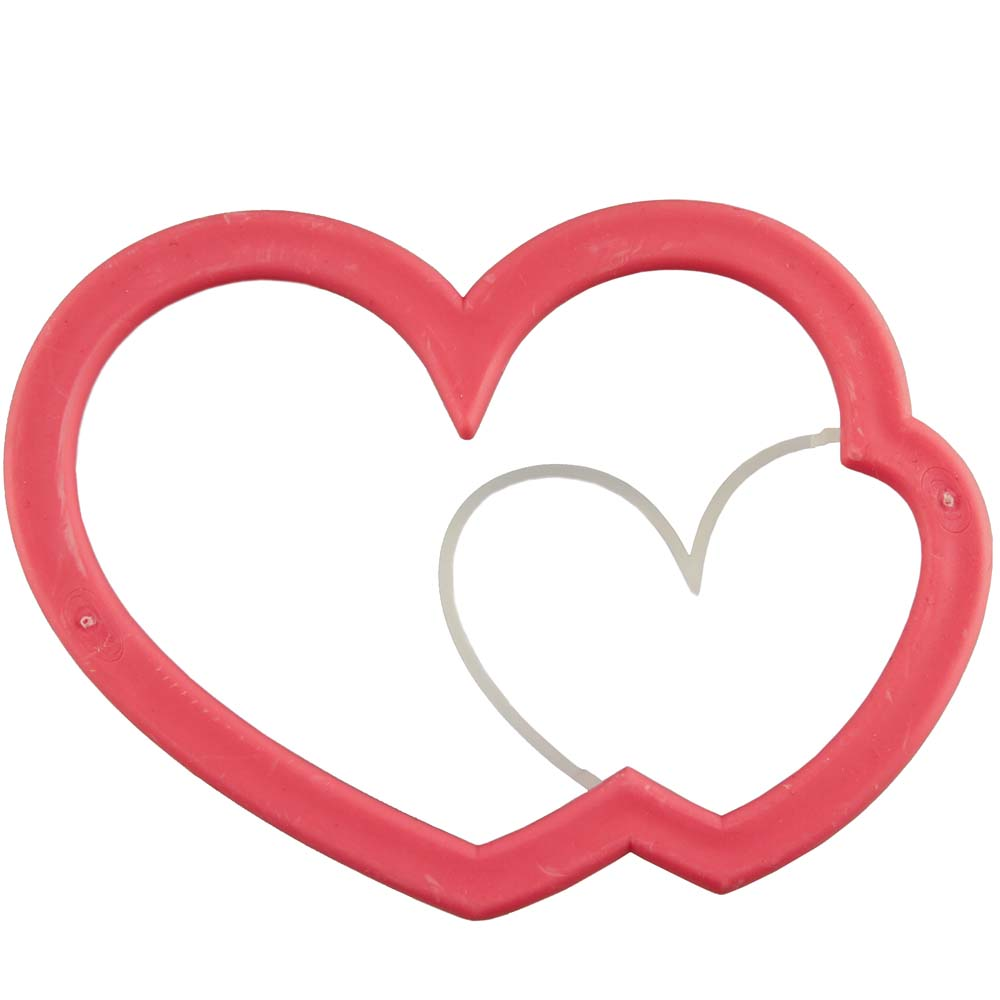 Double Heart Cookie Cutter Stamp