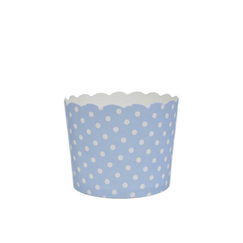 Light Blue Polka Dot Bake In Cups