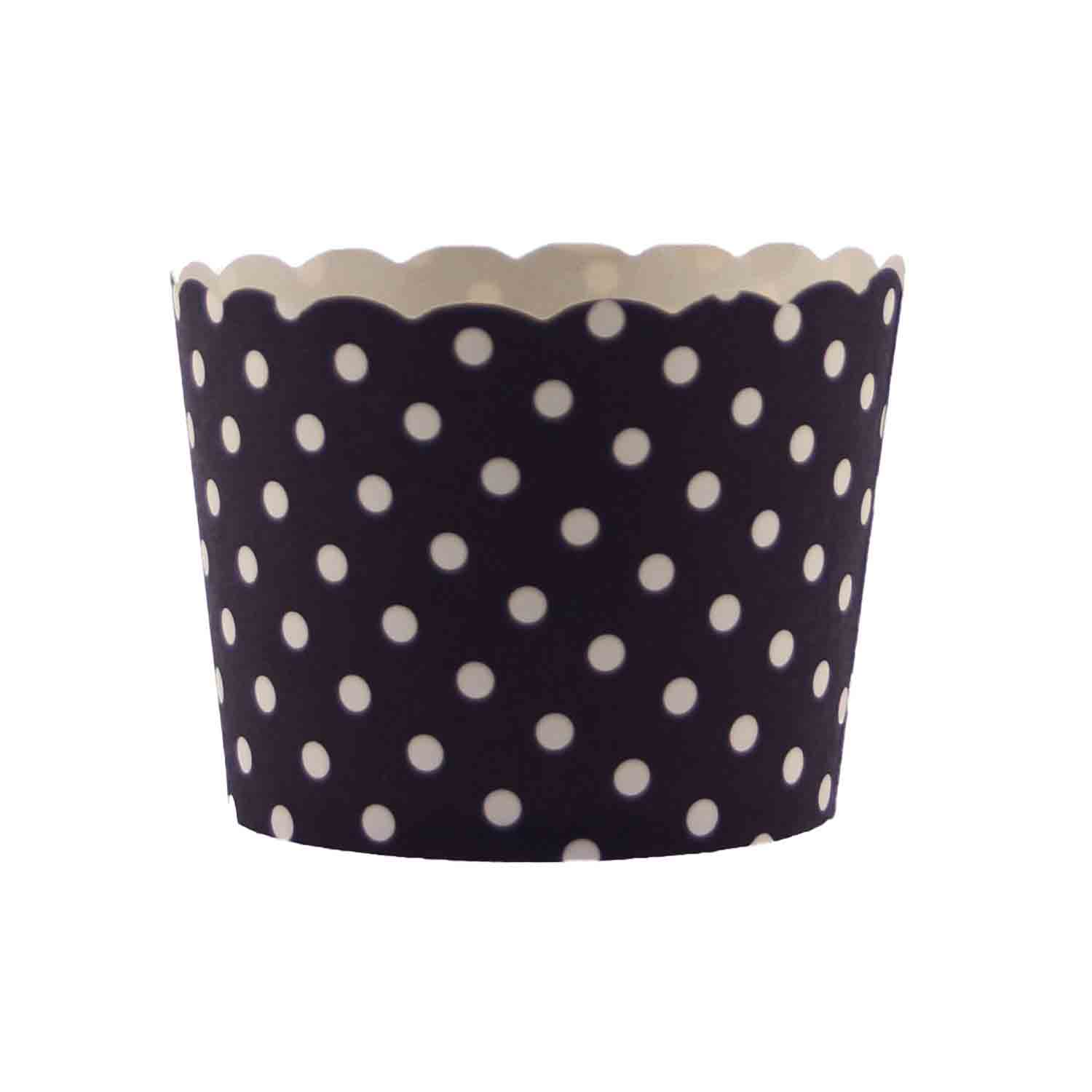 Black Polka Dot Bake In Cups - Small