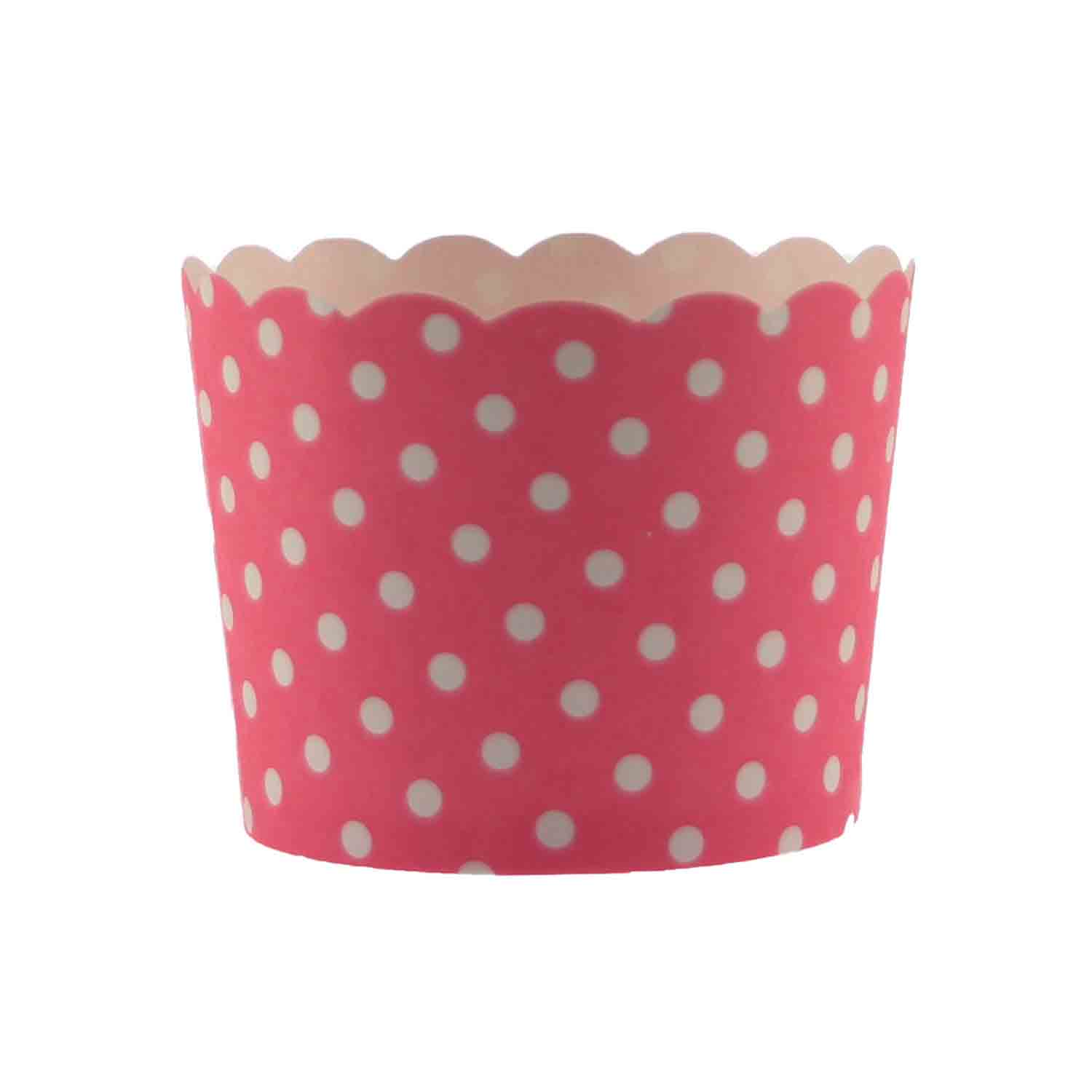 Pink Polka Dot Bake In Cups - Small