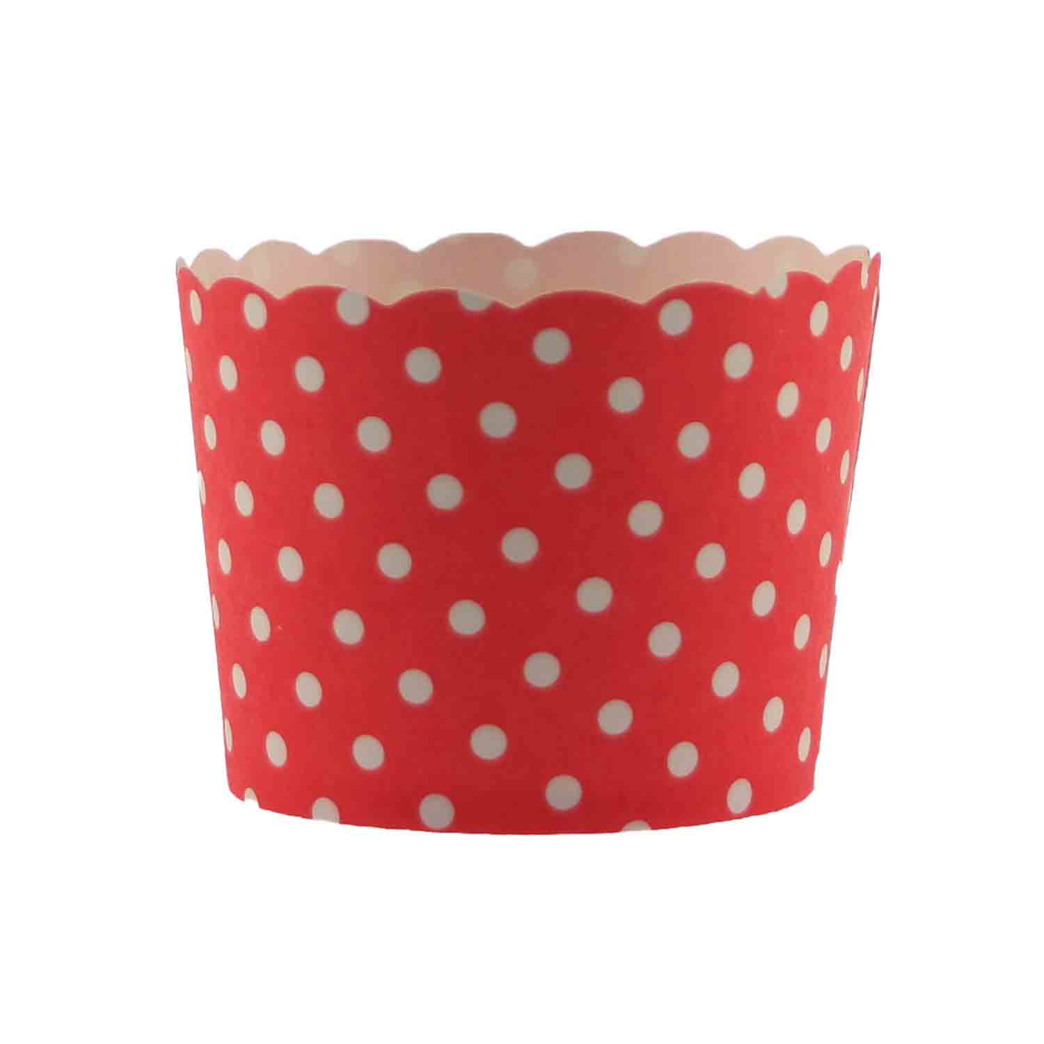 Red Polka Dot Bake In Cups - Small