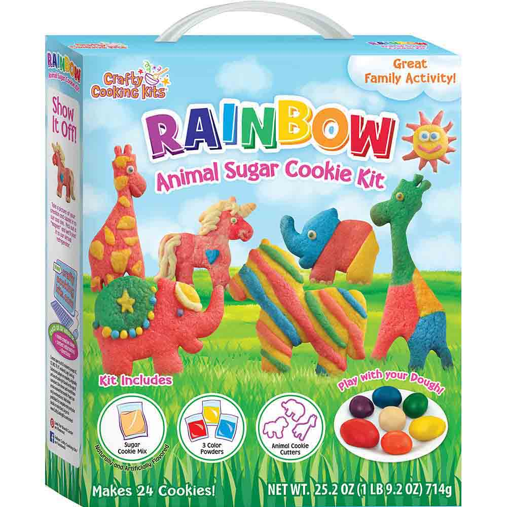 Rainbow Animal Cookie Kit