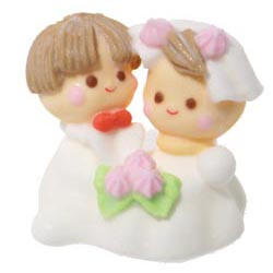Sugar Lay-on 3-D Wedding Couple