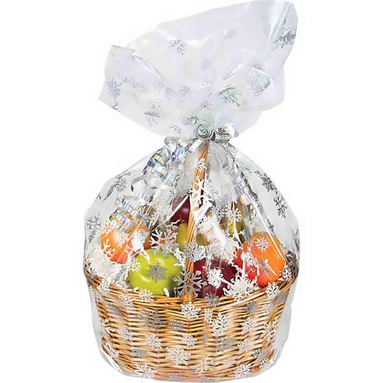 Snowflake Cello Basket Bag
