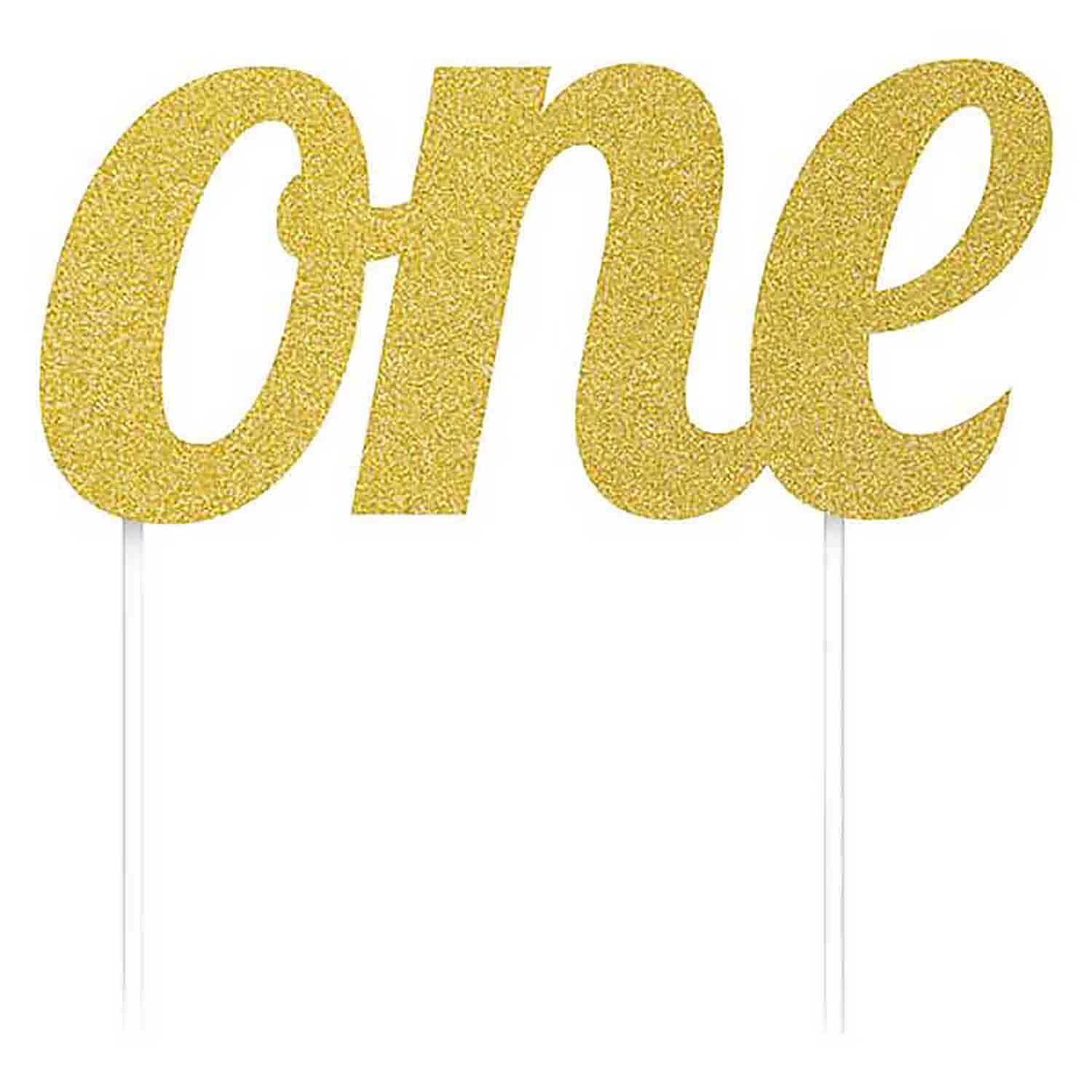 "Gold ""One"" Cake Topper"