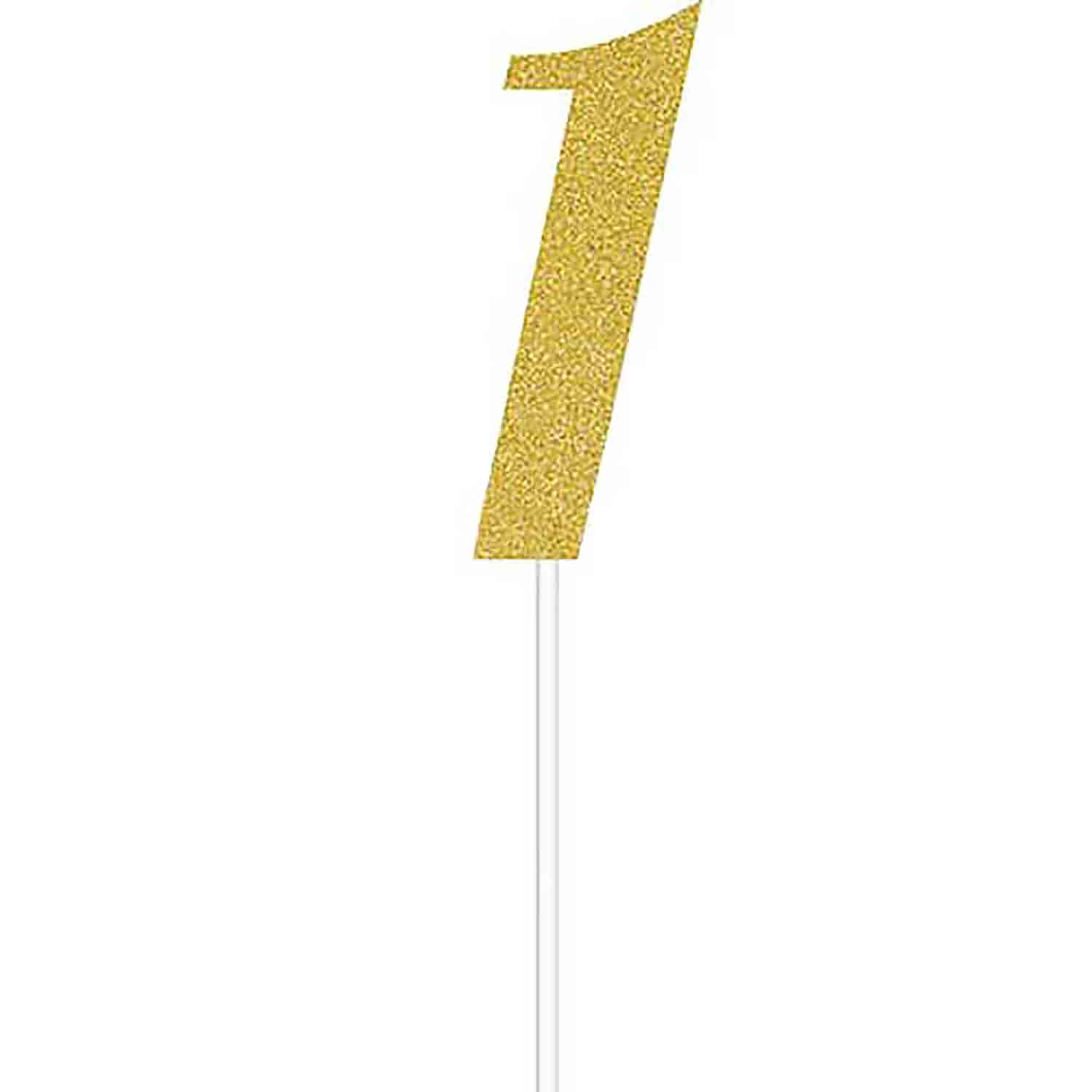 Number 1 Gold Cake Topper