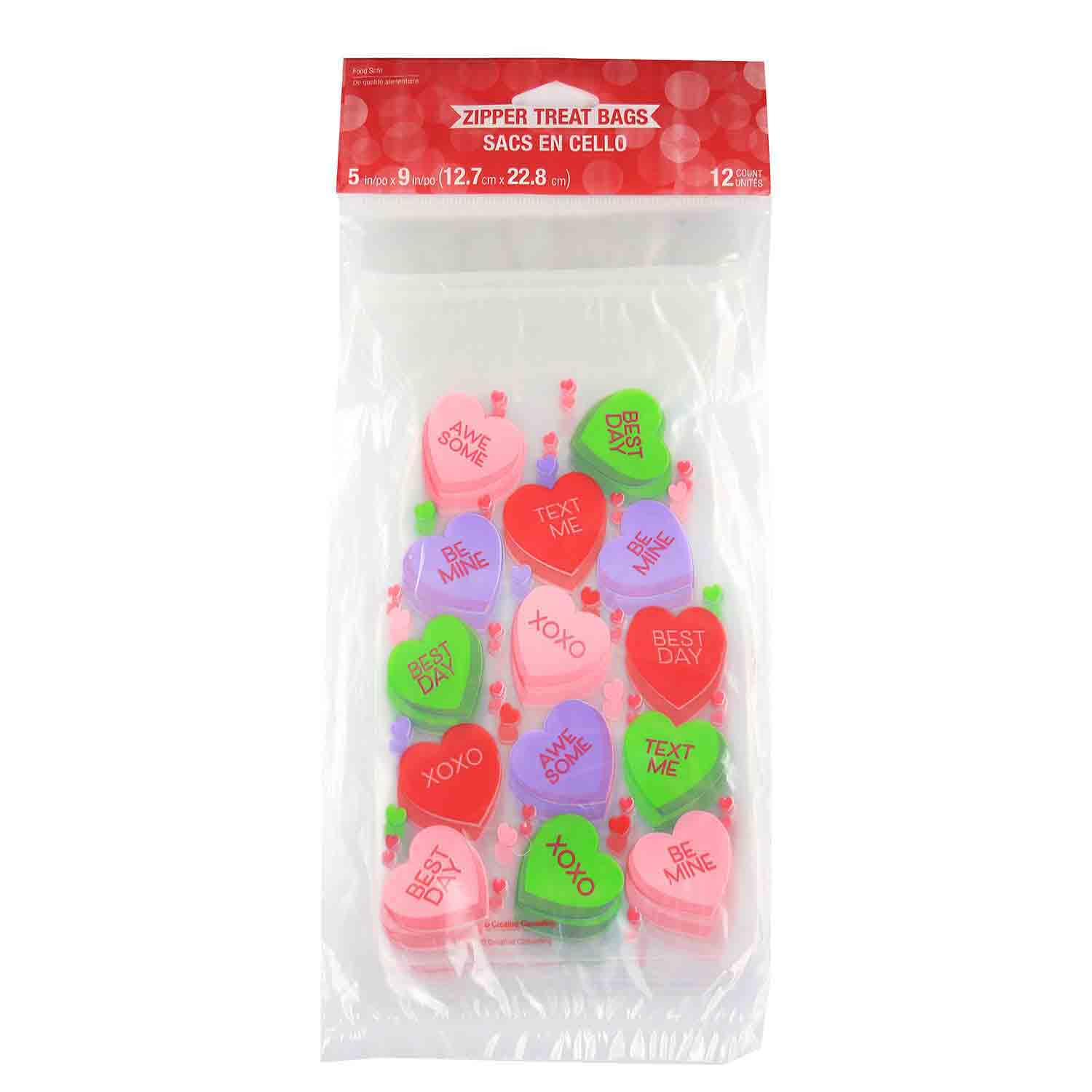Candy Hearts Treat Bags