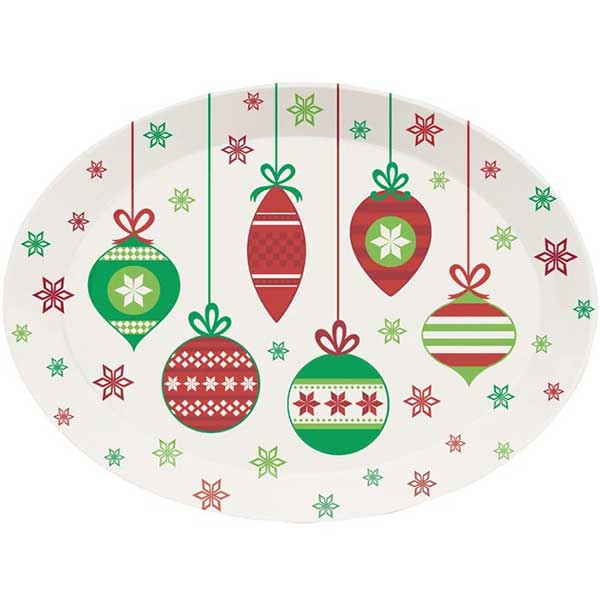 Christmas Ornaments Platter