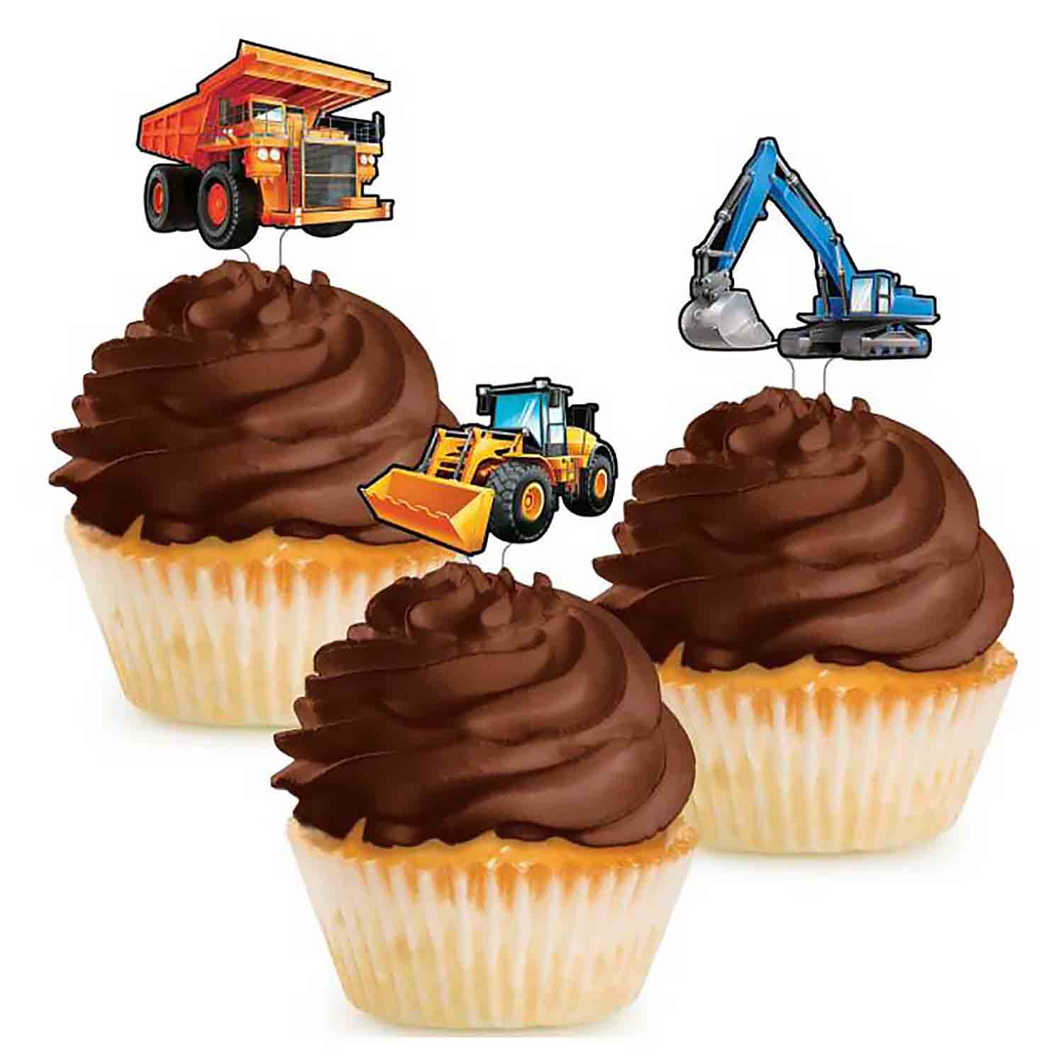 Big Dig Construction Cupcake Picks
