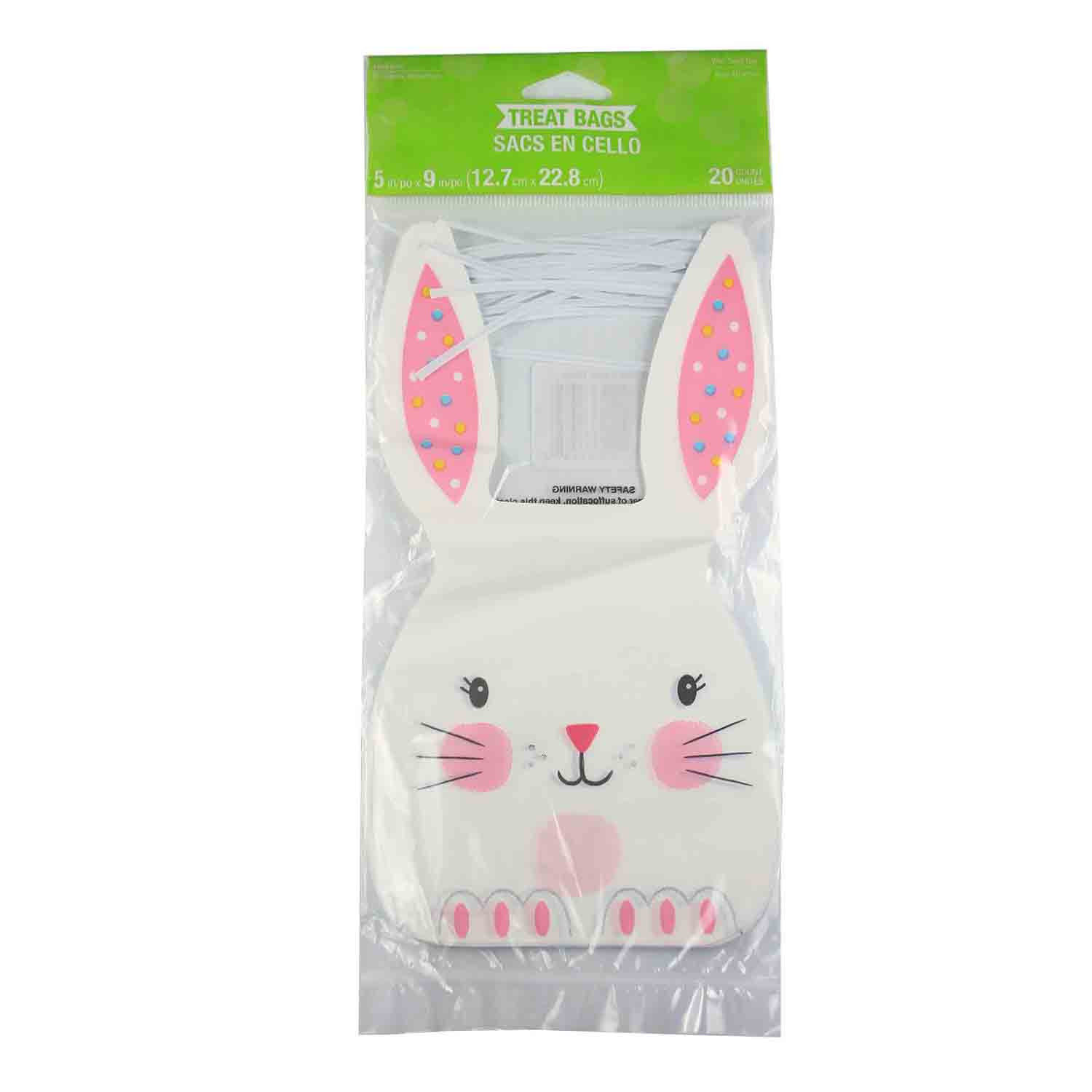 Easter Bunny Treat Bags With Ties