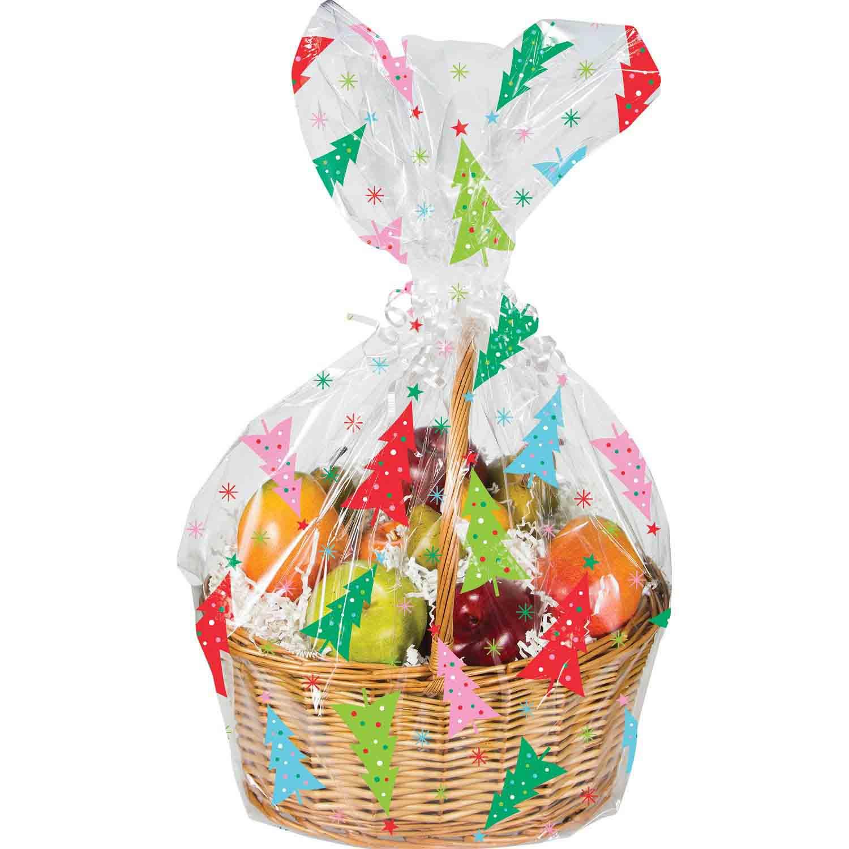 Colorful Trees Cello Basket Bag