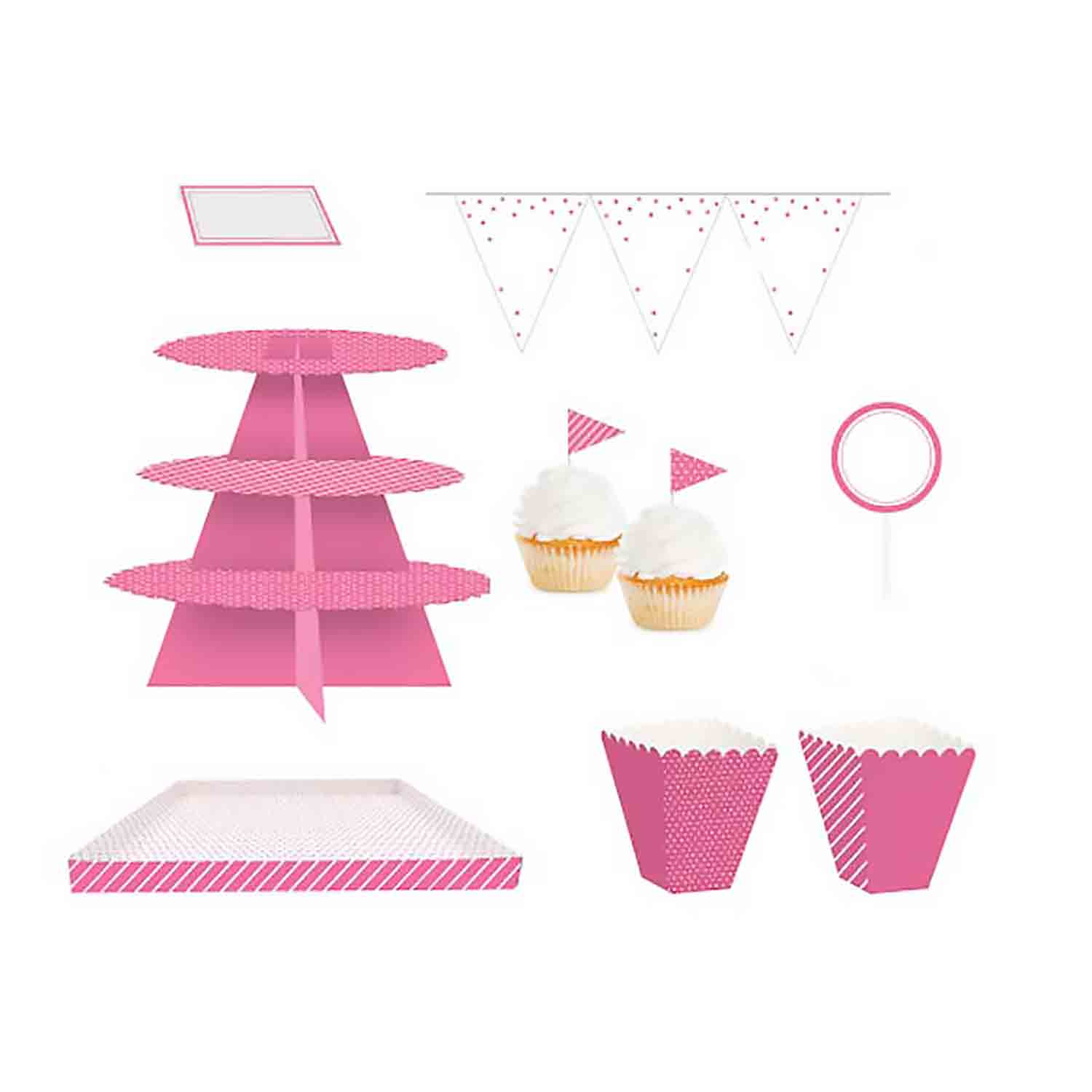 Candy Pink Treat Table Kit