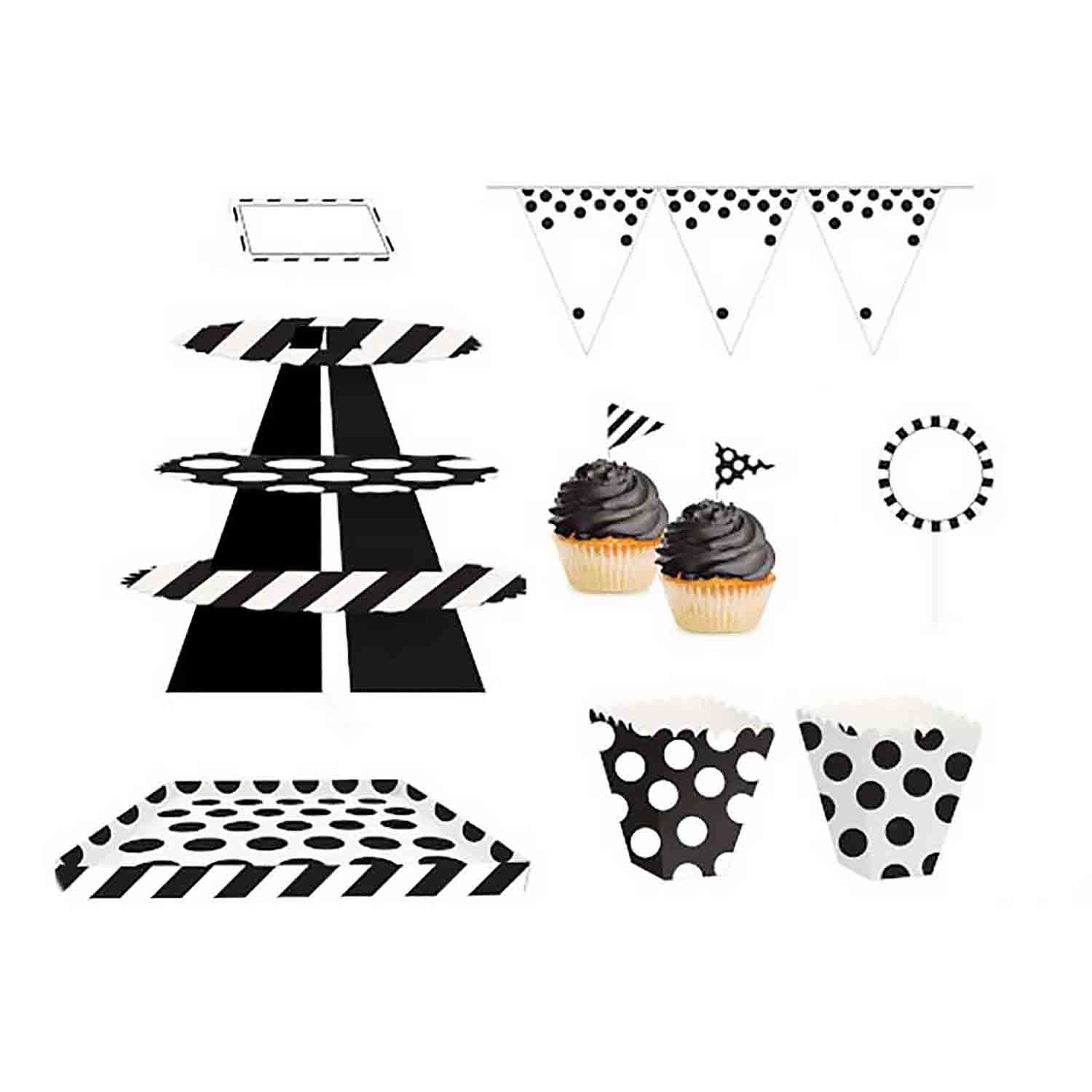 Black and White Treat Table Kit