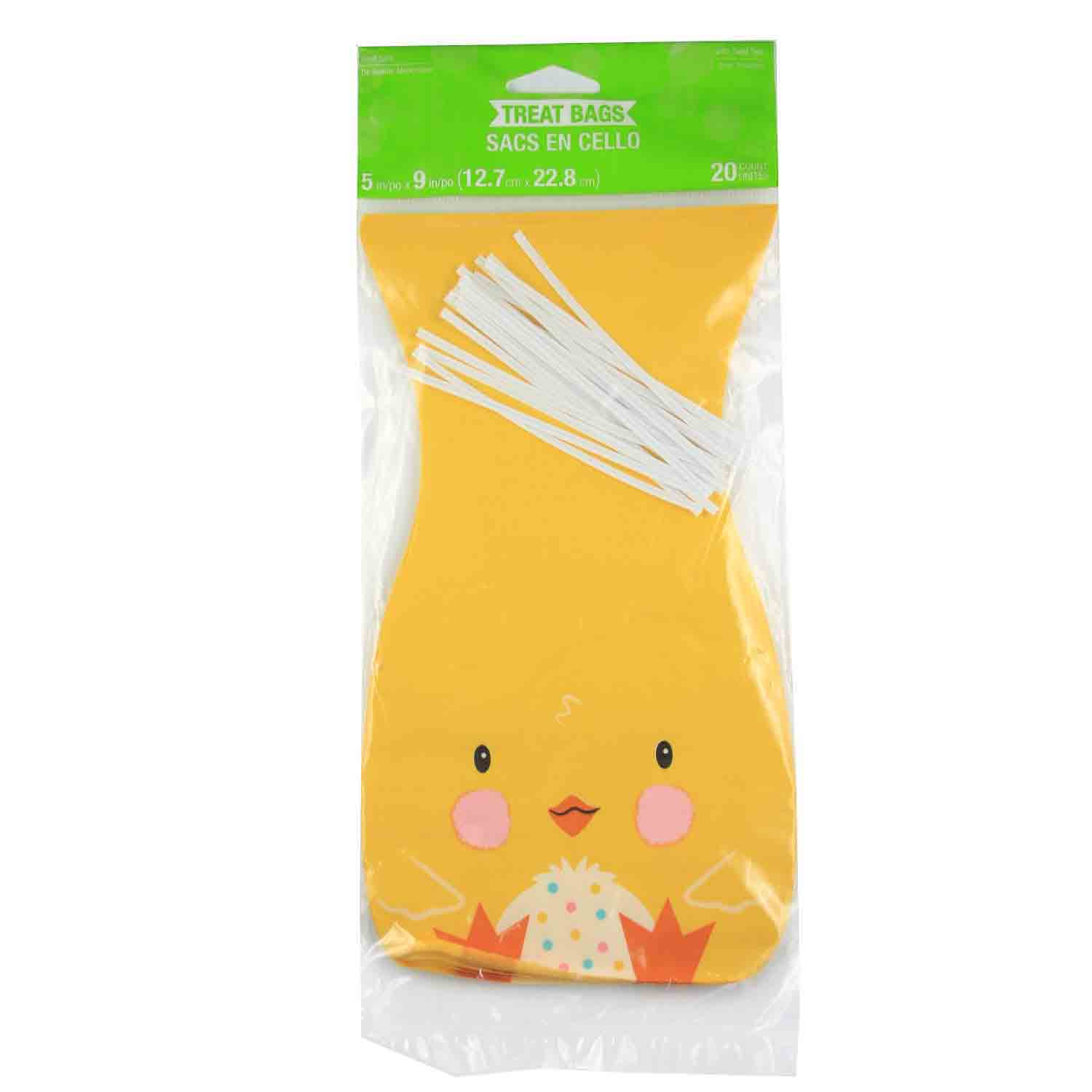 Easter Chick Treat Bags With Ties
