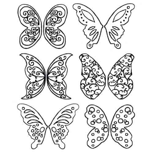 Gelatin Veining Sheet- Fantasy Butterfly
