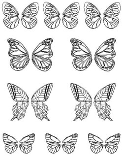 Gelatin Veining Sheet- Butterflies