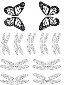 Gelatin Veining Sheet- Butterflies and Dragonflies