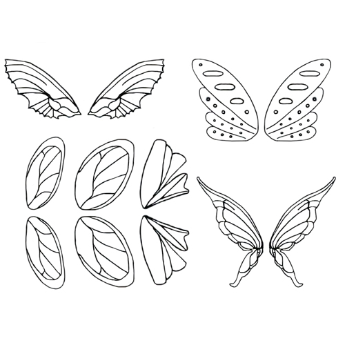 Gelatin Veining Sheet- Fairy Assortment #2