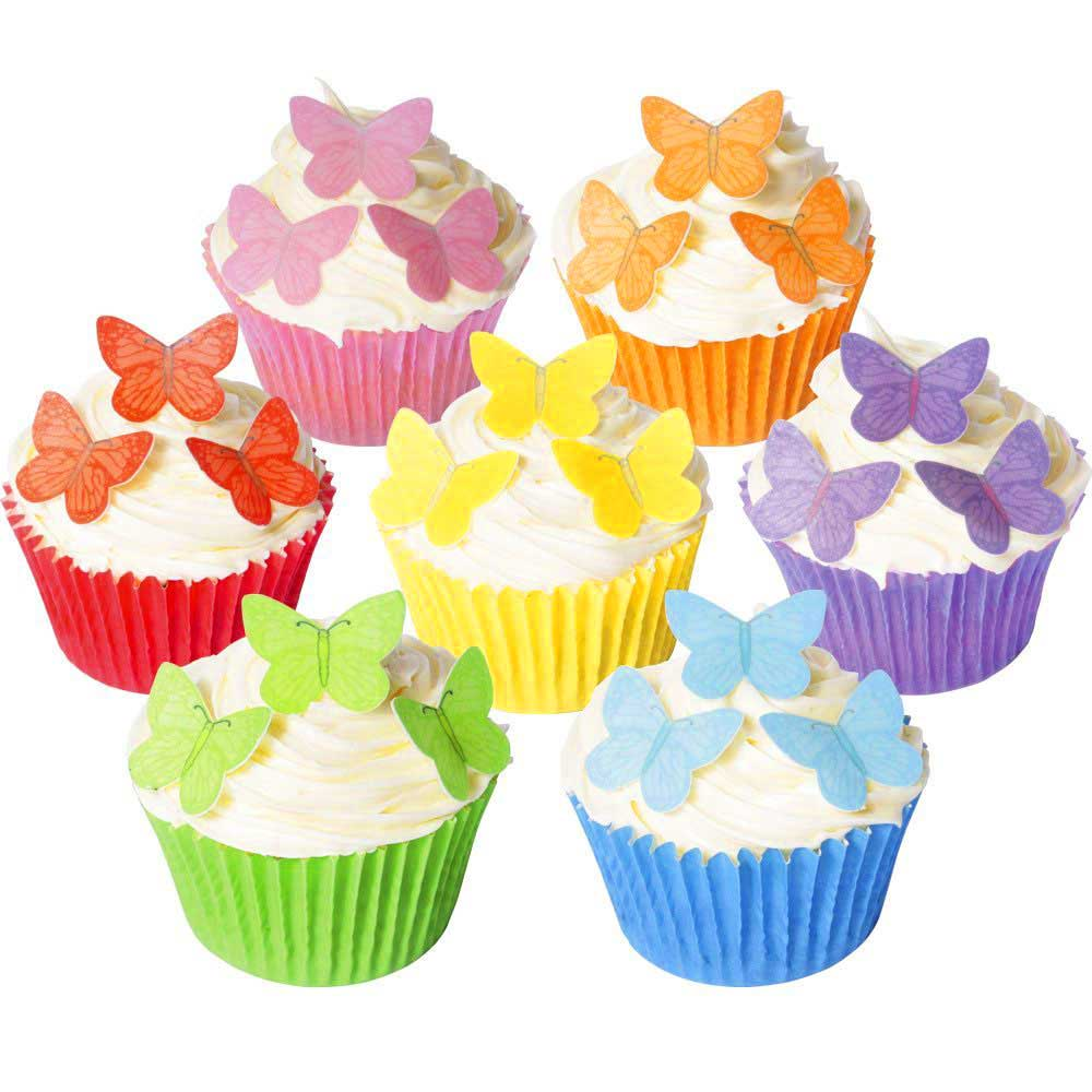 Small Edible Wafer Paper Butterflies