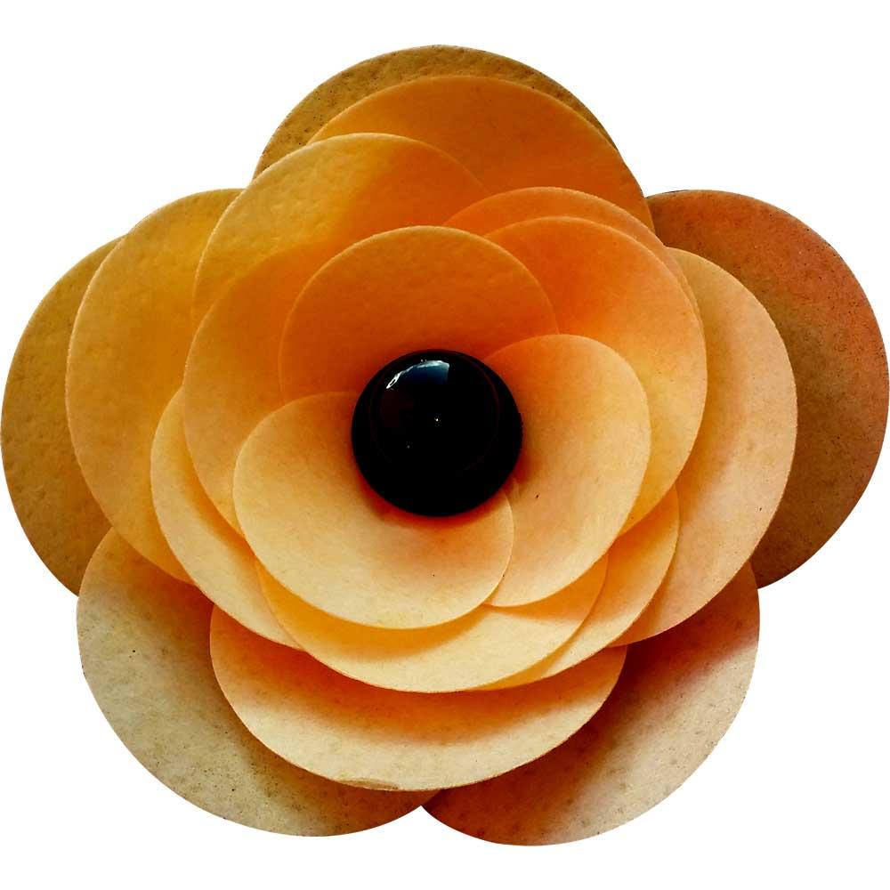Orange Ranunculus Edible Wafer Flower Kit