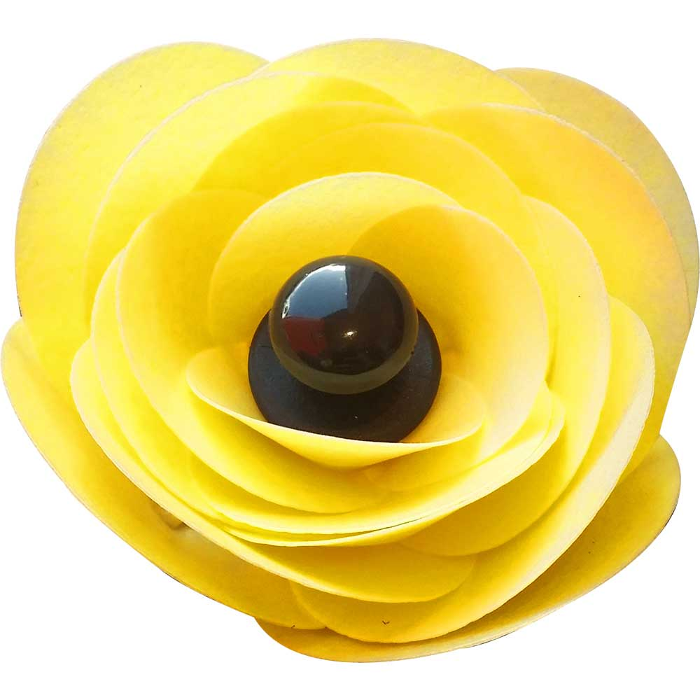 Yellow Ranunculus Edible Wafer Flower Kit