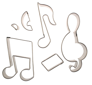 Cutter Set - Large Music Notes