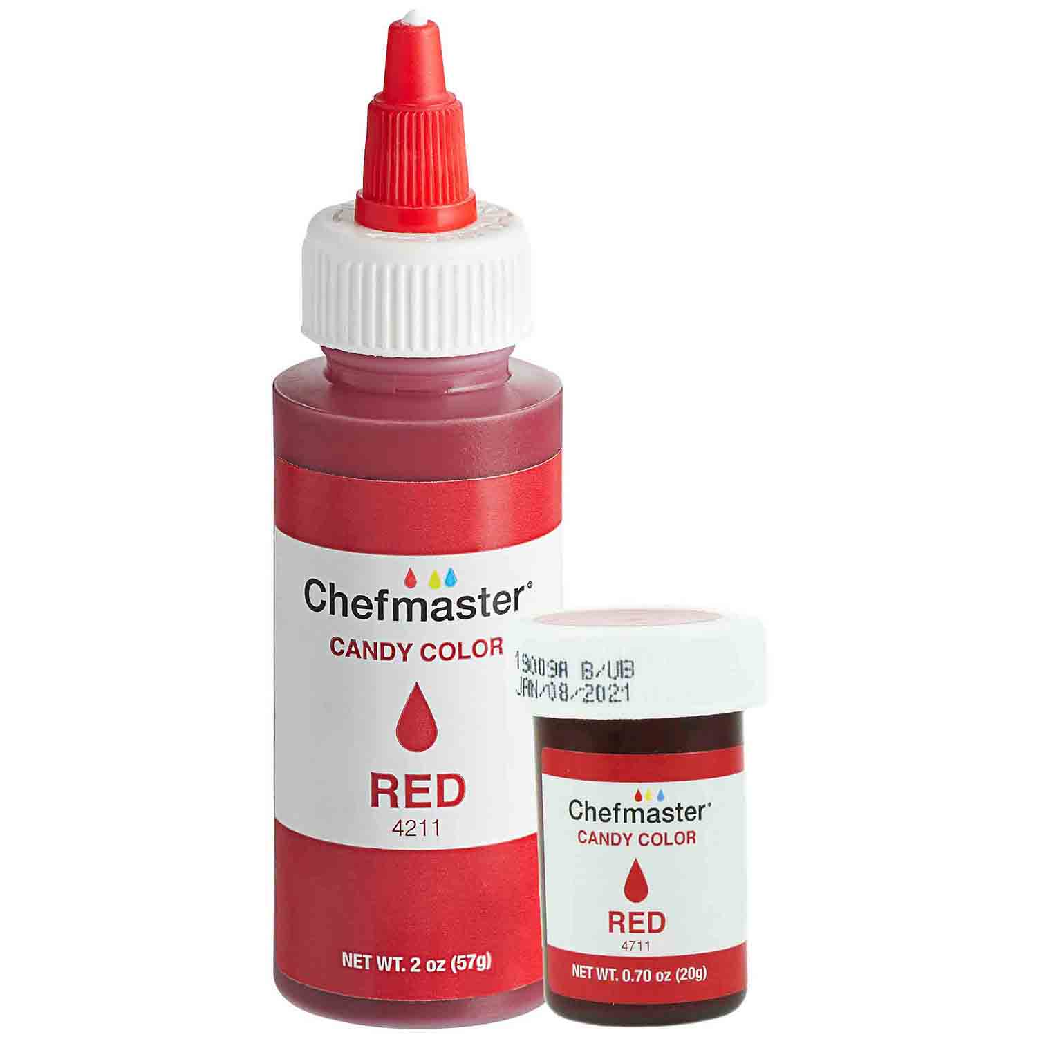 Liquid Red Chefmaster Candy Color (Old Item # 41-3282)