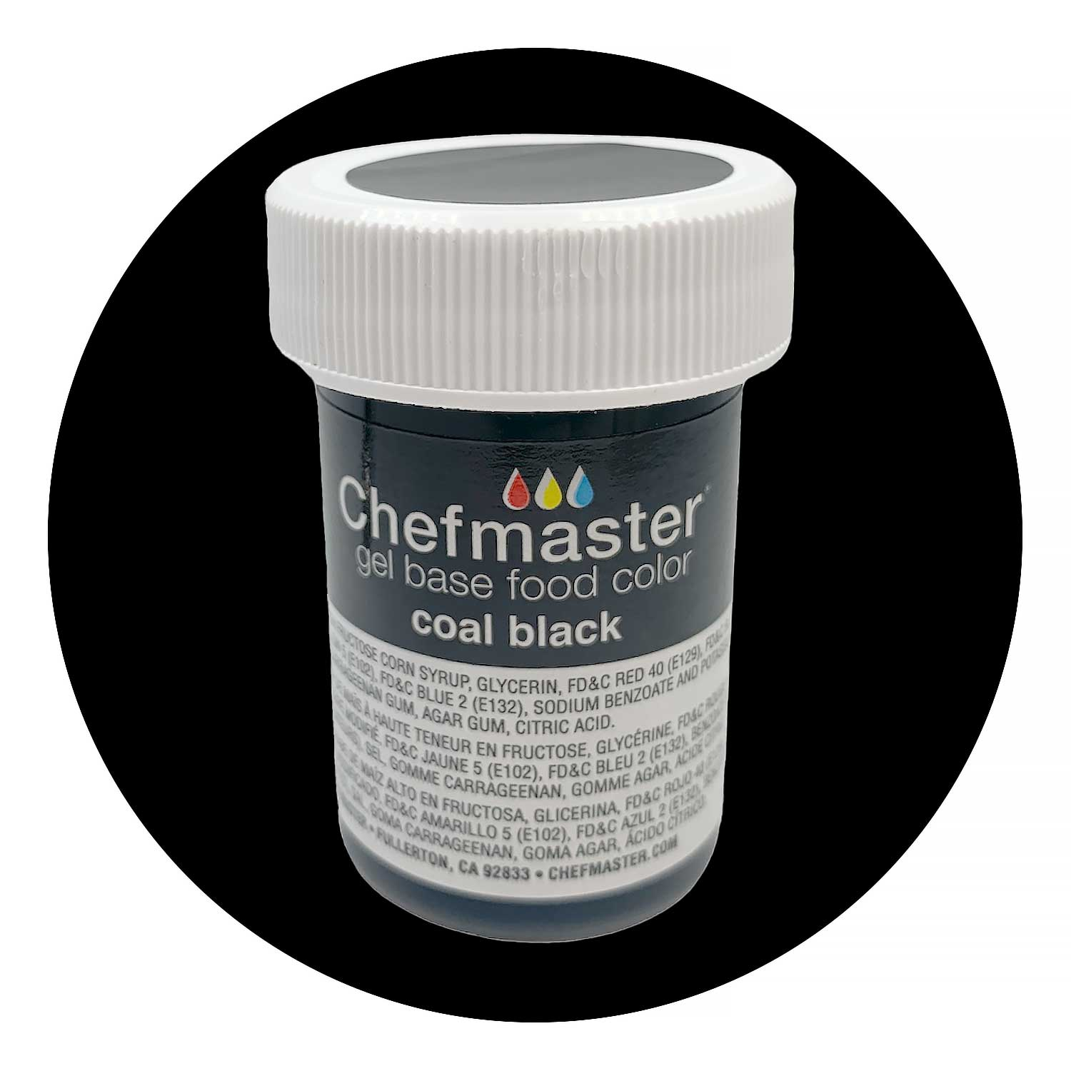 Coal Black Chefmaster Food Color Gel (Old Item # 41-2339)