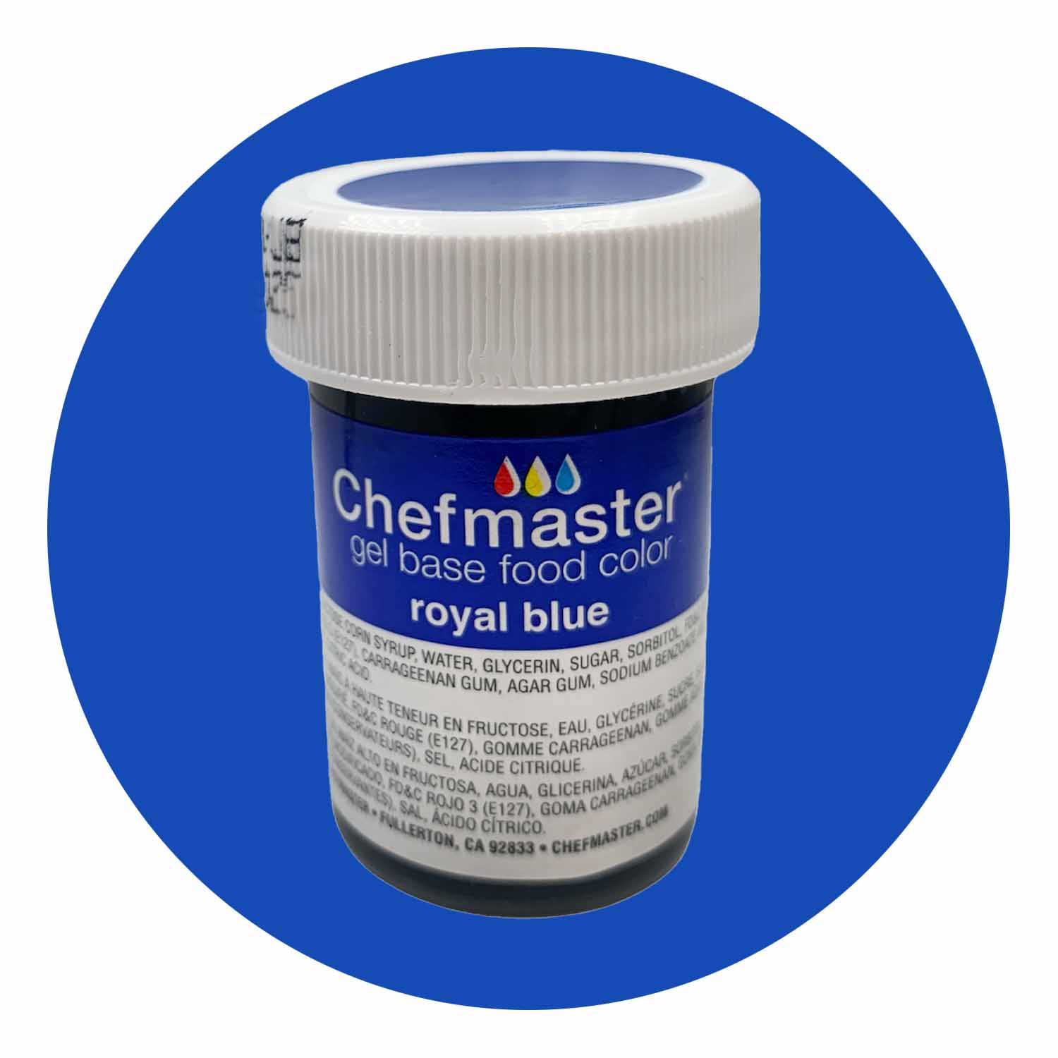 Royal Blue Chefmaster Food Color Gel (Old Item # 41-2343)