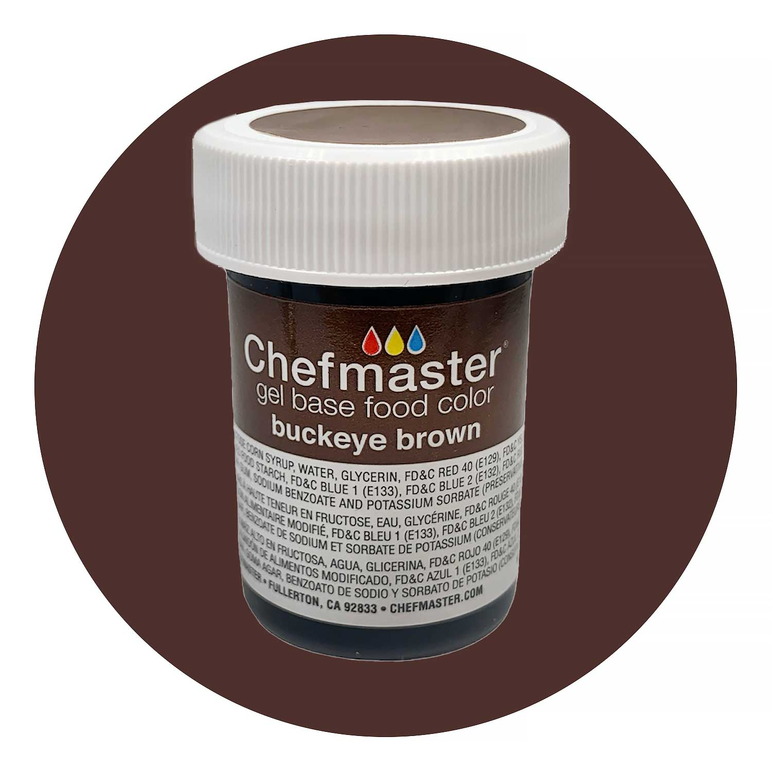 Buckeye Brown Chefmaster Food Color Gel (Old Item # 41-2350) - CFM ...