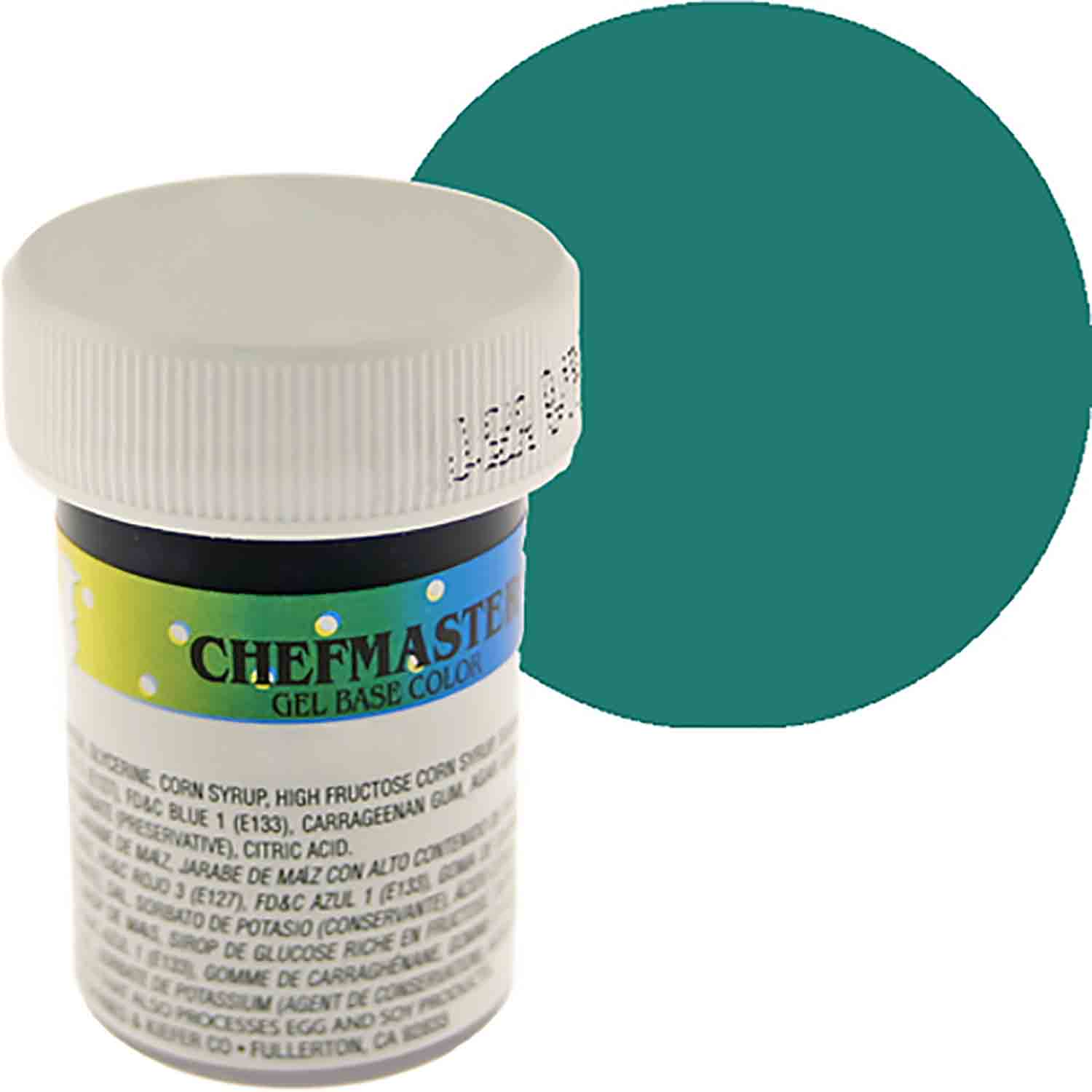 Teal Green Chefmaster Food Color Gel (Old Item # 41-2336)