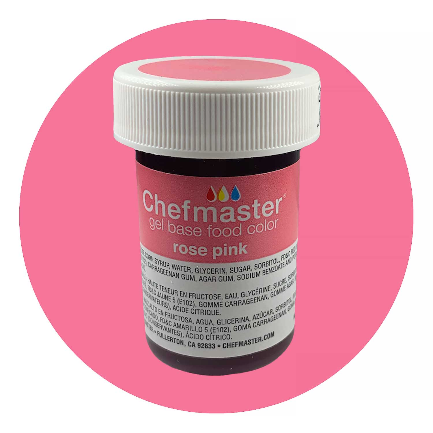Pink Rose Chefmaster Food Color Gel (Old Item # 41-2377)