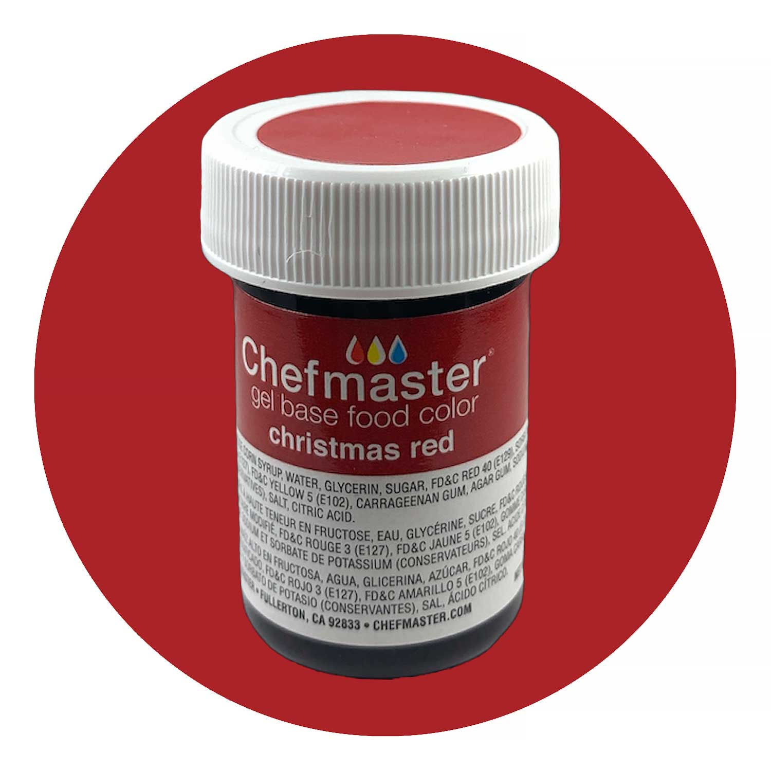 Christmas Red Chefmaster Food Color Gel (Old Item # 41-2381)