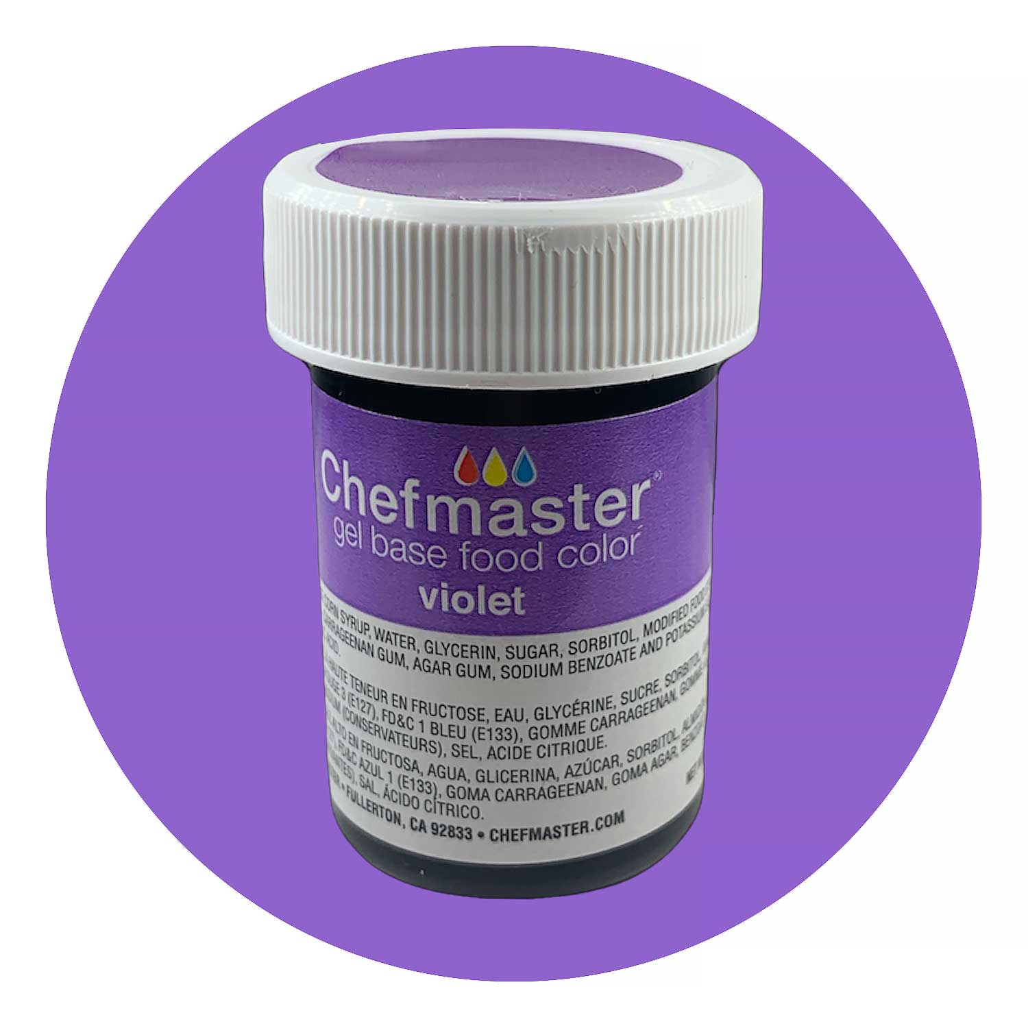 Violet Chefmaster Food Color Gel (Old Item # 41-2397)