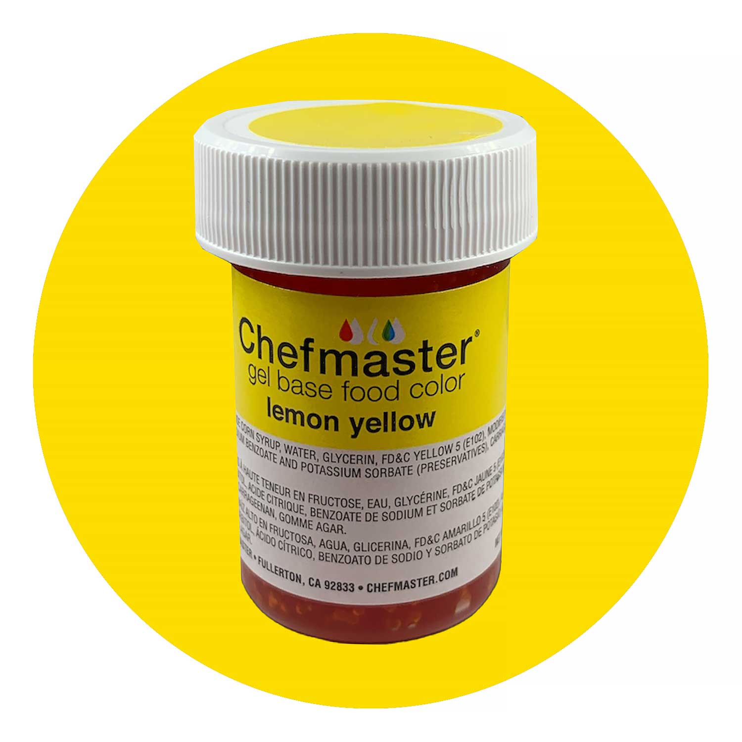 Lemon Yellow Chefmaster Food Color Gel (Old Item # 41-3302)