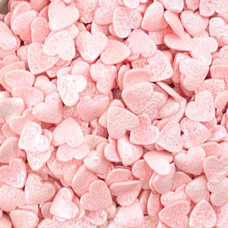 Pink Heart Pearl Confetti