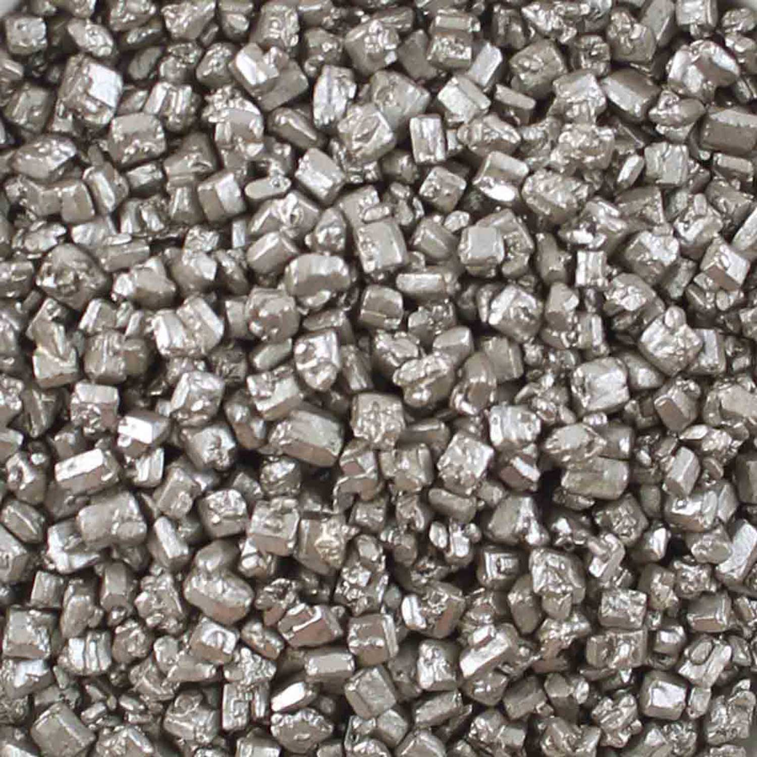 Metallic Silver Rock Sugar