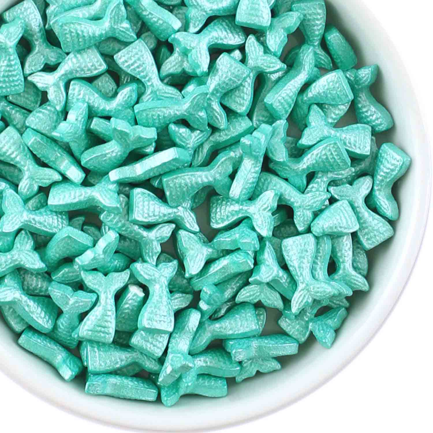 Teal Mermaid Tail Candy Sprinkles