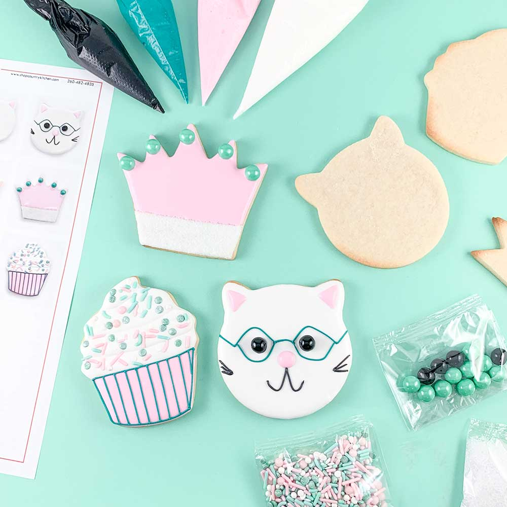 Pretty Kitty Cookie Decorating Kit