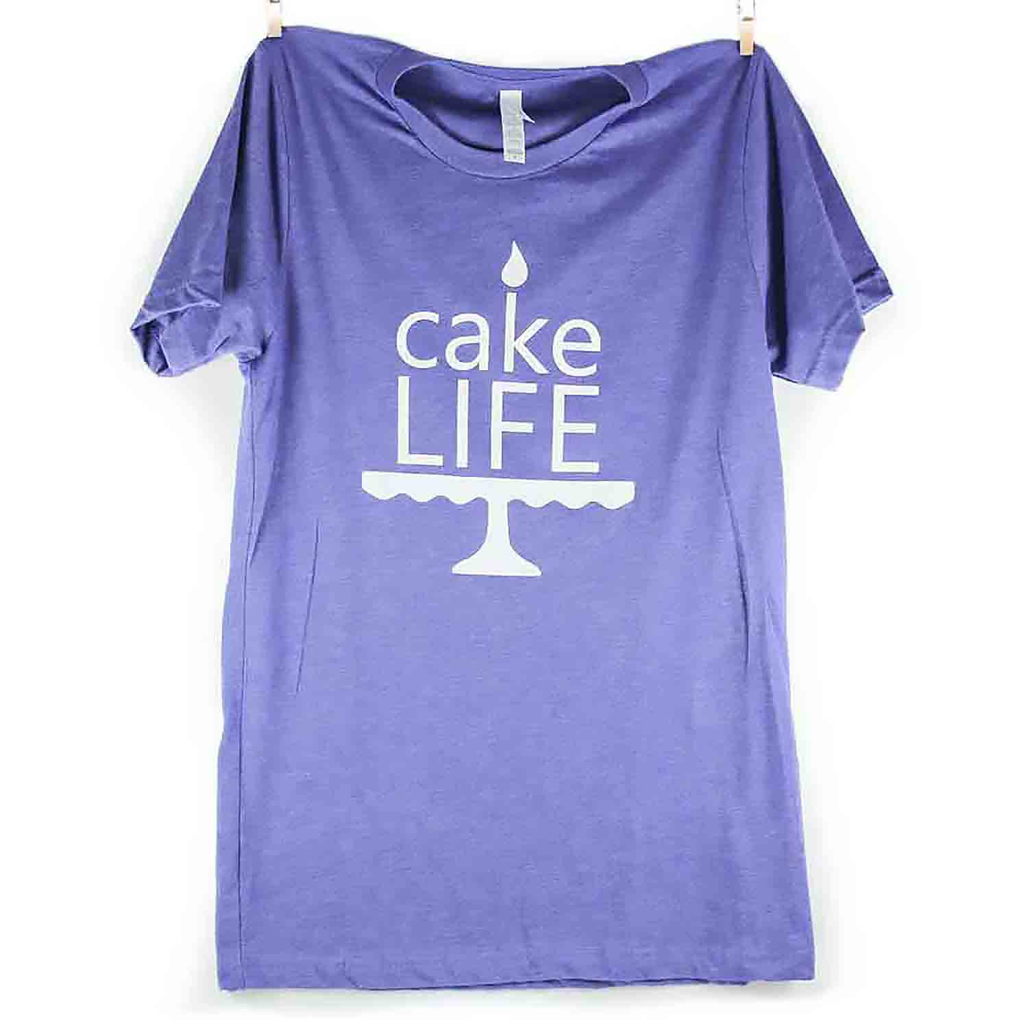 Purple Cake Life T-Shirt - Medium