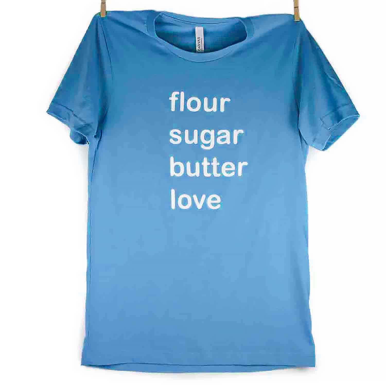 Teal Flour Sugar Butter Love T-Shirt - 3X