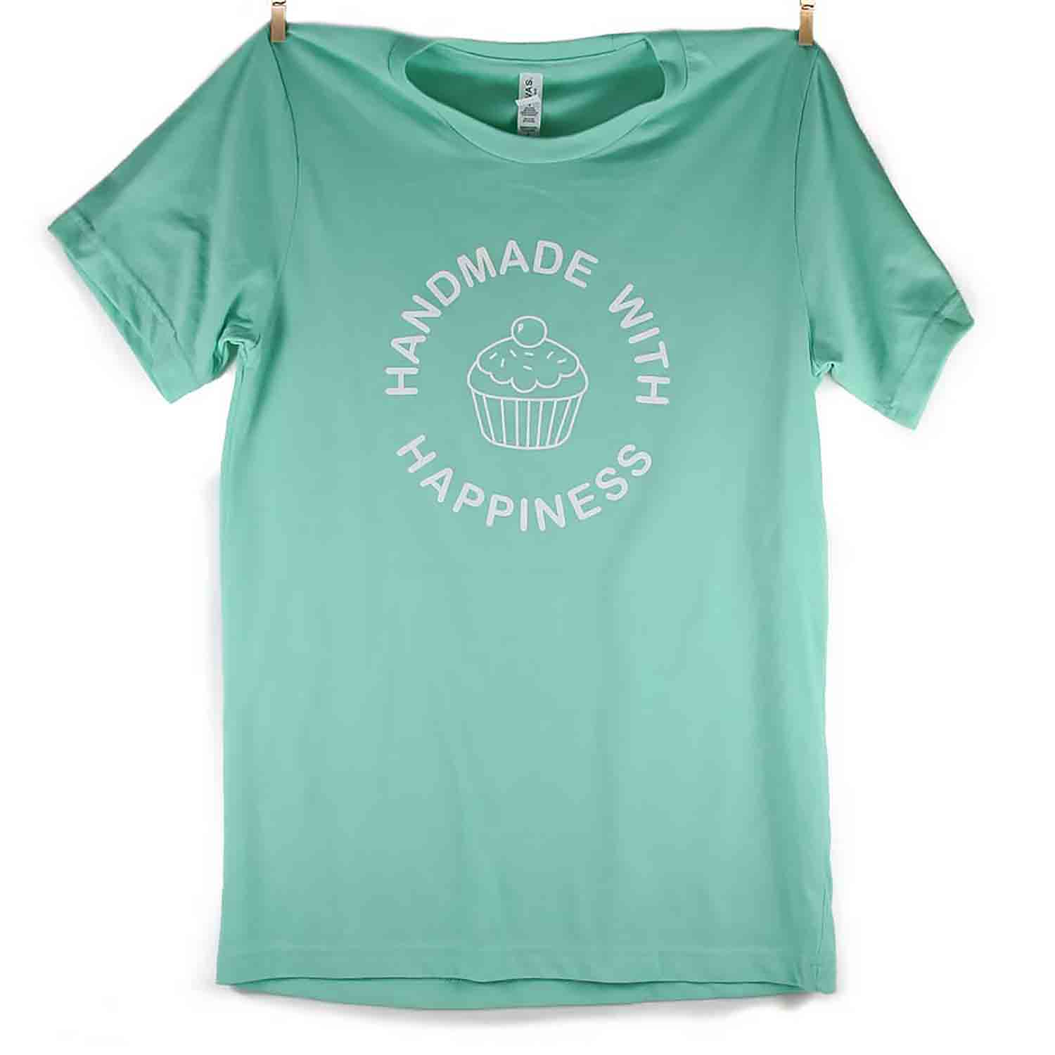 Mint Handmade with Happiness T-Shirt - Double Extra Large
