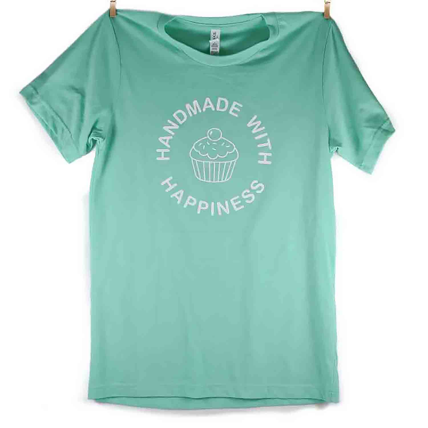Mint Handmade with Happiness T-Shirt - Small