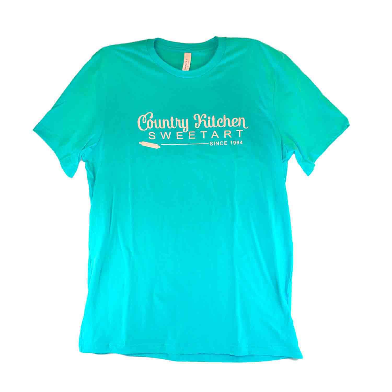 Turquoise Country Kitchen Sweetart T-Shirt - Large