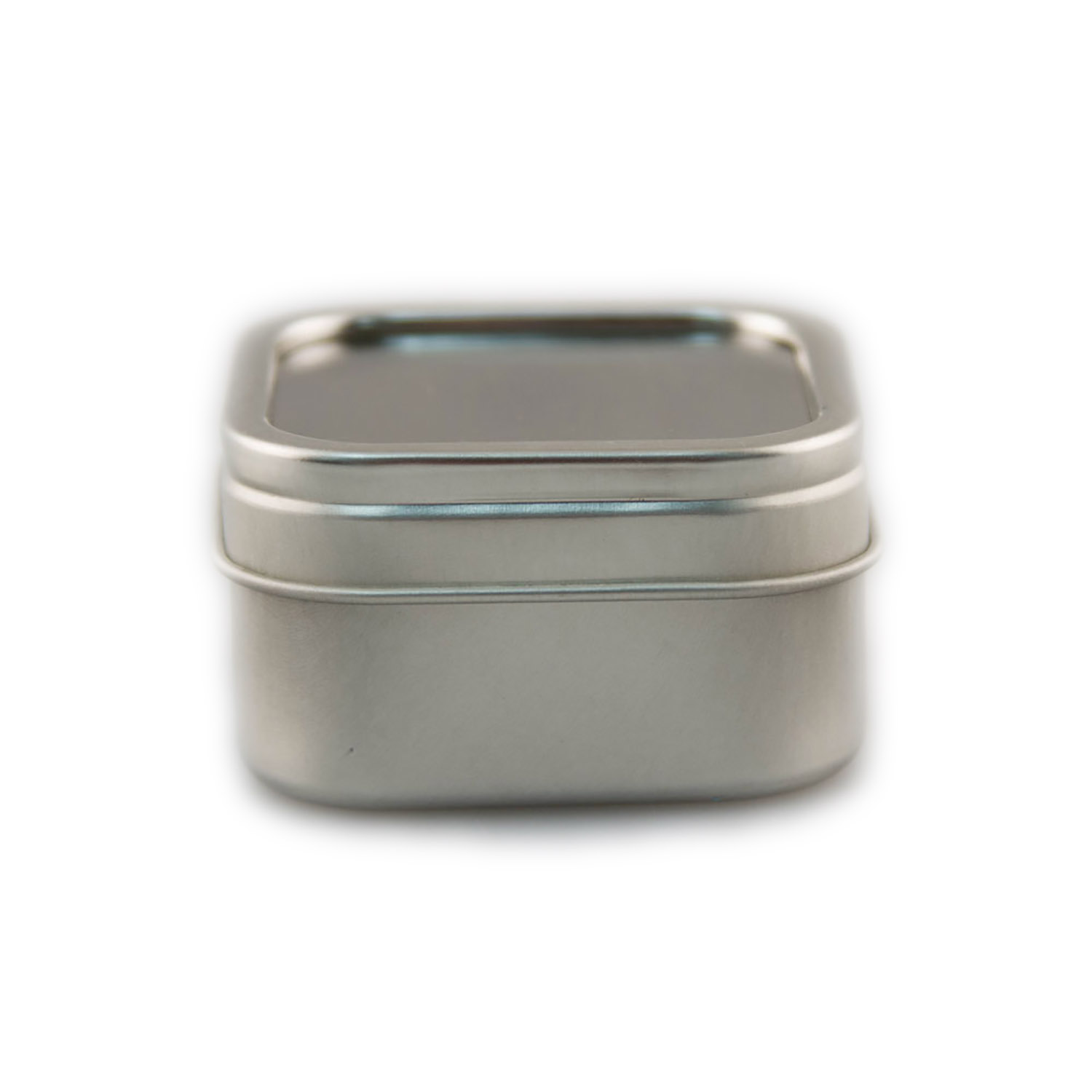 Square Tin with Clear Lid